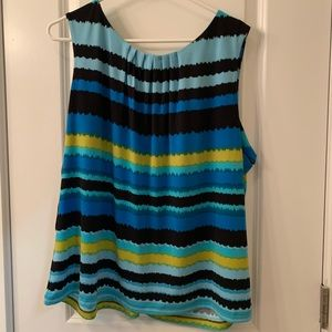 Calvin Klein Blue Stripes Top